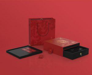 传统文创风设计《财盒》