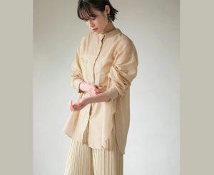 丝质透明长衬衫